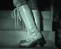 Her boots with the new infrared light...